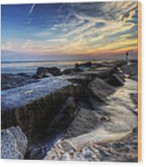 Indian River Inlet Sunrise Wood Print