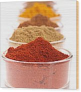 Indian Spices Wood Print