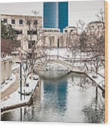 Indianapolis Canal Wood Print