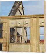 Industrial Building Wood Print