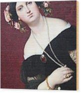 Ingres' Madame Moitessier Abstract Wood Print