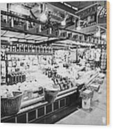 inside lonsdale quay market shopping mall north Vancouver BC Canada Wood Print