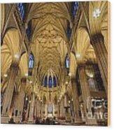 Inside St Patricks Cathedral New York City Wood Print