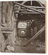 Interior Of Old Mission Church At Carmel Mission California  Circa 1880 Wood Print