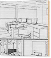 Interior Office Rooms Wood Print