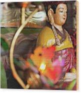 Interiors Of Vihn Trang Pagoda, My Tho Wood Print