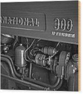 International 300 Utility Harvester Wood Print