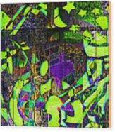 Interstate 10- Exit 259- 22nd St/ Star Pass Blvd Underpass- Rectangle Remix Wood Print