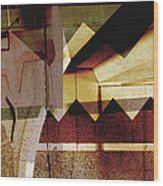 Interstate 10- Exit 259a- 29th St / Silverlake Rd Underpass- Rectangle Remix Wood Print