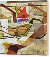 Interstate 10- Exit Out West- Where Life Begins New- Rectangle Remix Wood Print