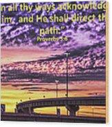 Interstate At Sunrise Wood Print