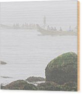 Intertribal Canoe Journey Wood Print by Walter Klockers