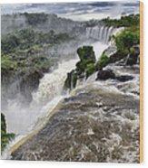 Iquassu Falls - South America Wood Print