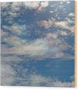 Iridescent Clouds Wood Print