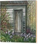 Iris By Barn Wood Print