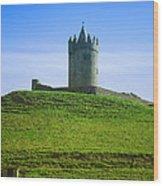 Irish Castle On Hill Wood Print