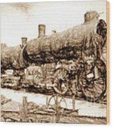 Iron Horse Boneyard Wood Print