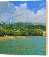 Island Of Maui Wood Print