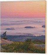 Islands In The Fog Wood Print