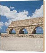 Israel Caesarea Aqueduct  Wood Print