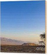 1-israel Negev Desert Landscape  Wood Print