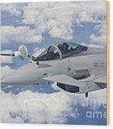 Italian Air Force Eurofighter Typhoon Wood Print