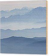 Italian Alps In The Mist Wood Print