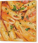 Italian Pasta - Penne All'arrabbiata Wood Print