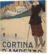 Italian Travel Poster Wood Print