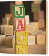 Jack - Alphabet Blocks Wood Print