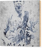 Jack Johnson Portrait Wood Print