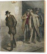 Jack The Ripper Wood Print