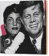 Jackie And Jack Kennedy In A Photo Booth Snap No Known Location 1953-2013 Wood Print