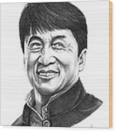 Jackie Chan Wood Print