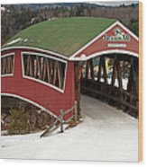 Jackson Cross Country Skiing Bridge Wood Print