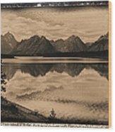 Jackson Lake Wyoming Wood Print