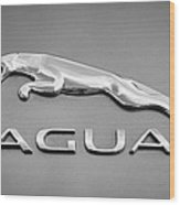 Jaguar F Type Emblem Wood Print