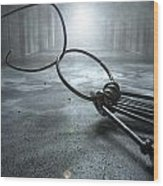 Jail Break Keys And Prison Cell Wood Print