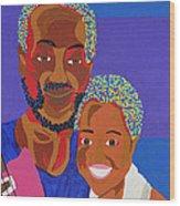 James And Monique Wood Print