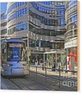 Jan Wellem Platz Duesseldorf Wood Print by David Davies