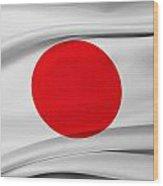 Japanese Flag Wood Print