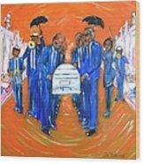Jazz Funeral Wood Print by Aaron Harvey