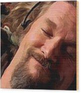 Jeff Bridges As The Dude Wood Print