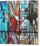 Jesus Healing The Blind Man Wood Print
