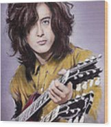 Jimmy Page 1 Wood Print