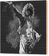 Jimmy Page Wood Print by William Walts