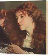Jo The Beautiful Irish Girl Wood Print