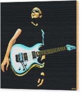 Joe Satriani Painting Wood Print