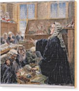 John Peter Zenger Trial Wood Print
