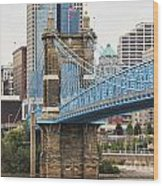 John Roebling Bridge 1867 Wood Print